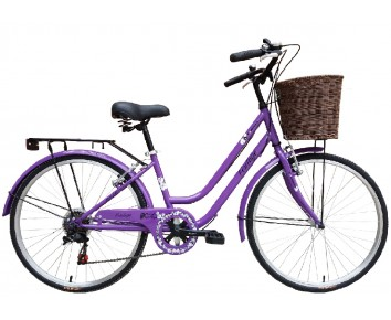 "24″ Vintage Girls Bike Purple 14"" frame 9 to 12 years"
