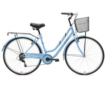 Tiger Vintage Blue Ladies Hybrid Bike Steel