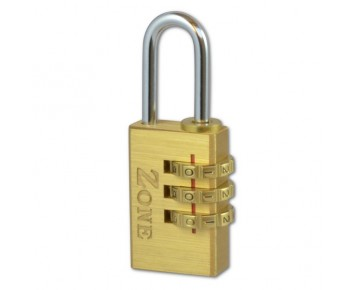 Padlock Combination Brass 40mm Zone