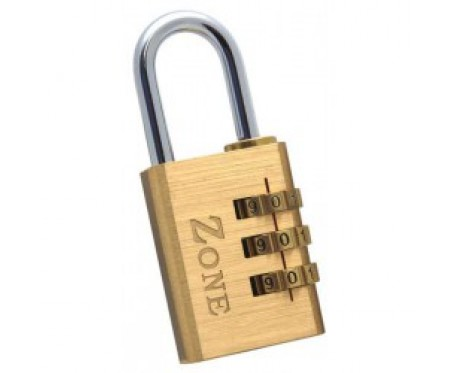 Padlock Combination Brass 30mm Zone