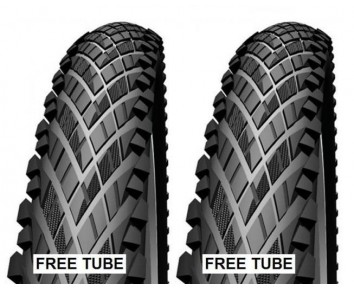 700 x38 Impac Crosspac Tyre Pair + FREE Tubes